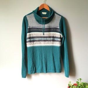 Royal Robbins Fair Isle Cowl Neck Sweater 0731